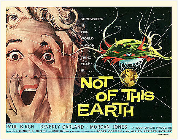Not Of This Earth 1957 Half Sheet Poster Reproduction