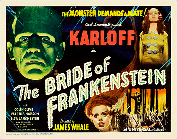 Bride of Frankenstein 1935 Style A Half Sheet Poster Reproduction