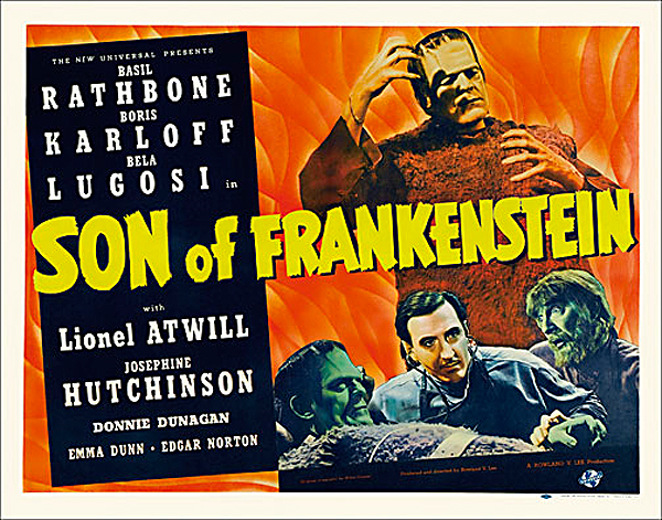 Son of Frankenstein 1939 Style B Half Sheet Poster Reproduction