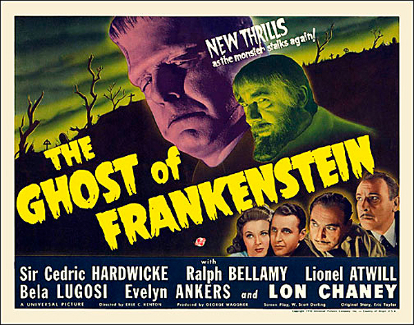 Ghost of Frankenstein 1942 Half Sheet Poster Reproduction