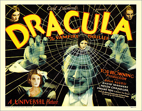 Dracula 1931 Half Sheet Poster Reproduction Bela Lugosi