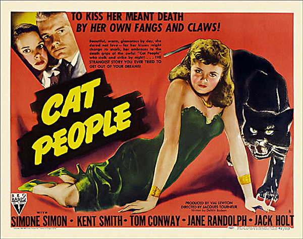 Cat People 1942 Half Sheet Poster Reproduction