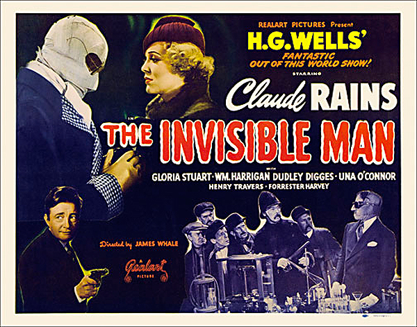Invisible Man 1947 Re-Release Half Sheet Poster Reproduction