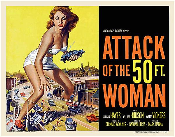 Attack of the 50ft Woman 1958 Half Sheet Poster Reproduction