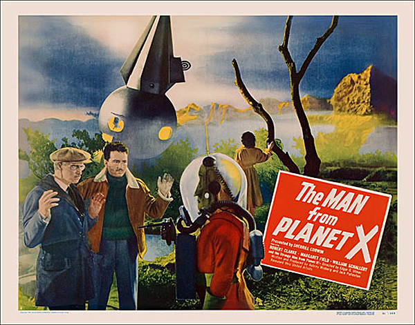 Man from Planet X 1951 Half Sheet Style A Poster Reproduction