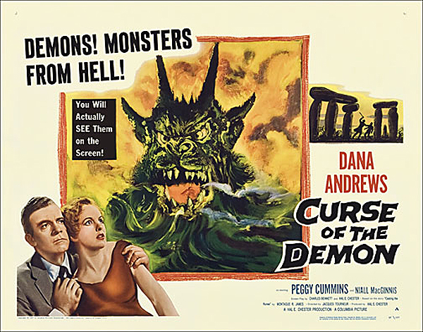 "Curse of the Demon 1957 Style ""A"" Half Sheet Poster Reproduction"