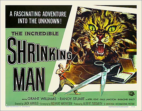 "Incredible Shrinking Man 1957 Style ""B"" Half Sheet Poster Reproduction"
