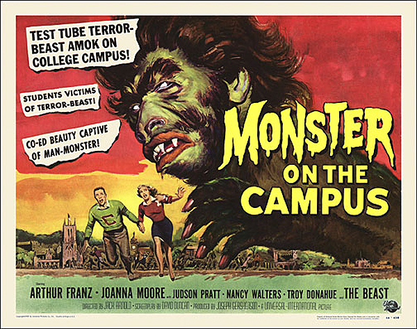 Monster on the Campus 1958 Half Sheet Poster Reproduction