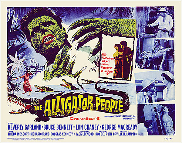 Alligator People 1959 Half Sheet Poster Reproduction