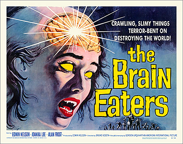 Brain Eaters, The 1958 Half Sheet Poster Reproduction