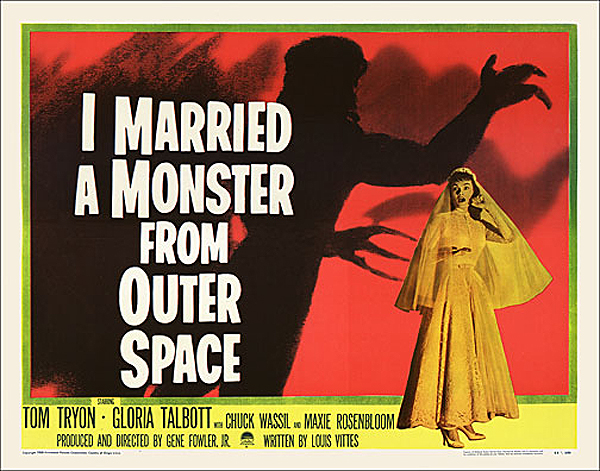 I Married A Monster Frome Outer Space 1957 Half Sheet Poster Reproduction