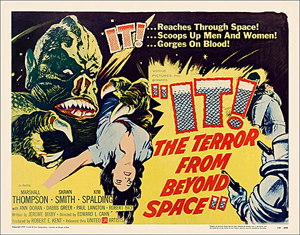 IT The Terror From Beyond Space 1958 Half Sheet Poster Reproduction