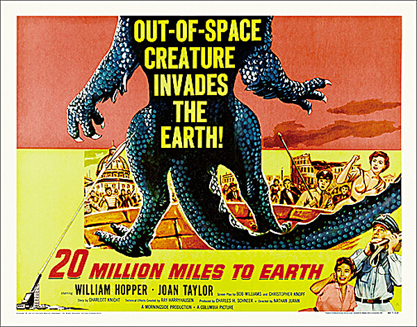 20 Million Miles to Earth 1957 Half Sheet Poster Reproduction