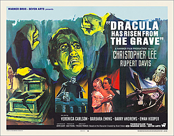 Dracula Has Risen From The Grave 1968 Half Sheet Poster Reproduction