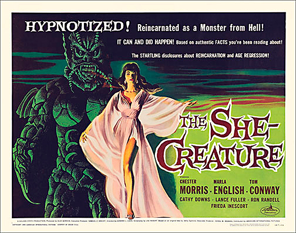 She-Creature, The 1956 Half Sheet Poster Reproduction