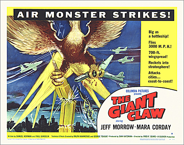 Giant Claw, The 1957 Half Sheet Poster Reproduction