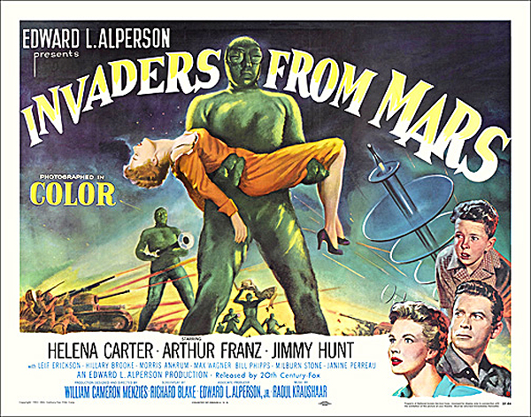 Invaders from Mars 1953 Half Sheet Poster Reproduction