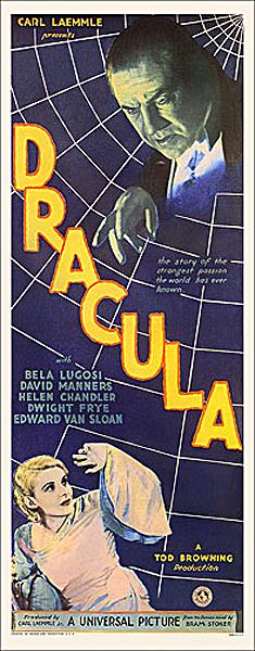Dracula 1931 Insert Card Poster Reproduction Bela Lugosi