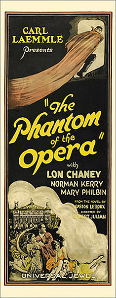Phantom of the Opera 1925 Insert Card Poster Reproduction