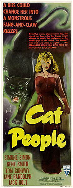 Cat People 1942 Insert Card Poster Reproduction Val Lewton