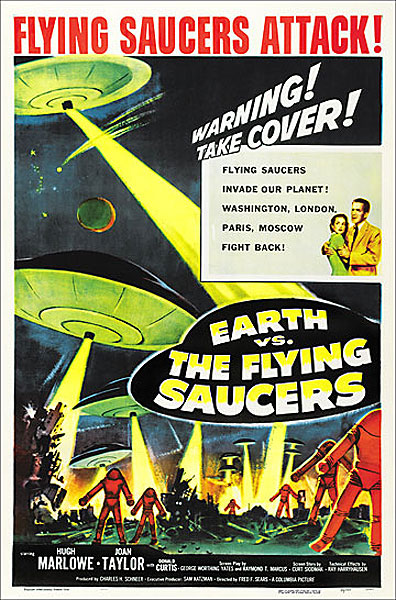 Earth VS. The Flying Saucers 1956 One Sheet Poster Reproduction