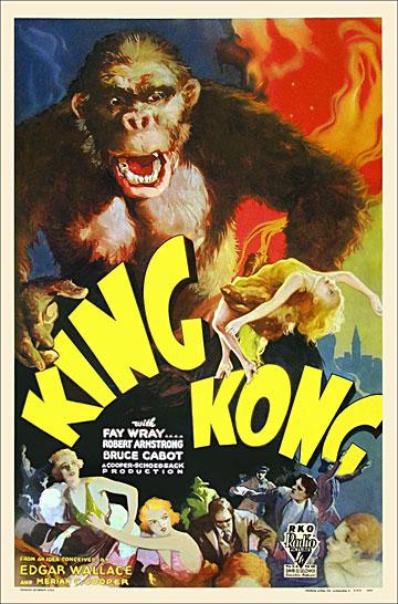 King Kong 1933 One Sheet Poster Reproduction