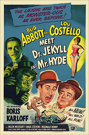 Abbott and Costello Meet Dr. Jekyll and Mr. Hyde 1953 One Sheet Poster Reproduction