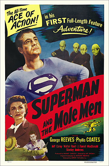 Superman and the Mole Men 1951 One Sheet Poster Reproduction
