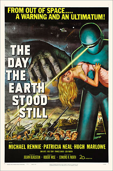 Day The Earth Stood Still 1951 One Sheet Poster Reproduction