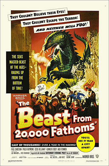 Beast from 20000 Fathoms 1953 One Sheet Poster Reproduction