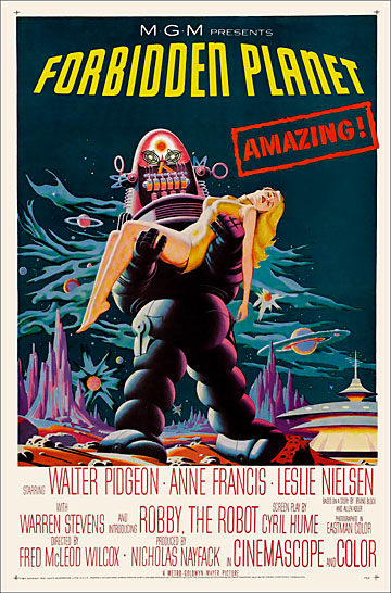 Forbidden Planet 1956 One Sheet Poster Reproduction