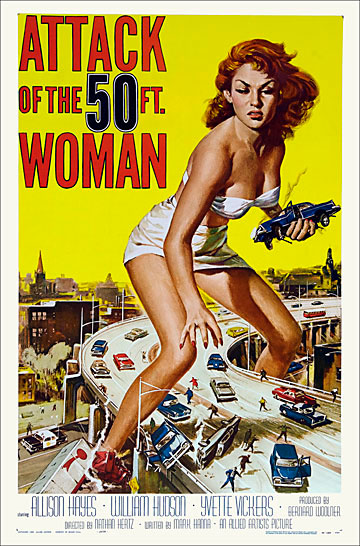 Attack Of The 50FT Woman 1958 One Sheet Poster Reproduction