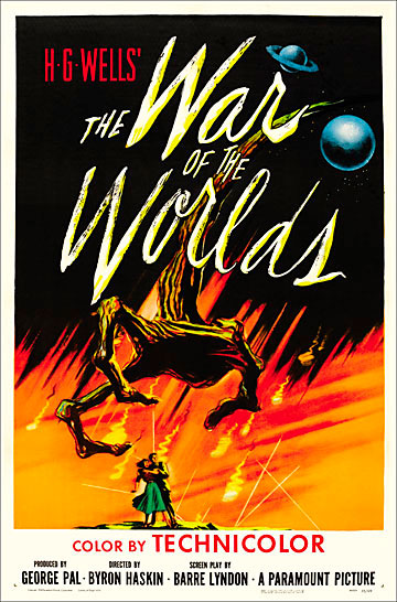 War Of The Worlds 1953 One Sheet Poster Reproduction