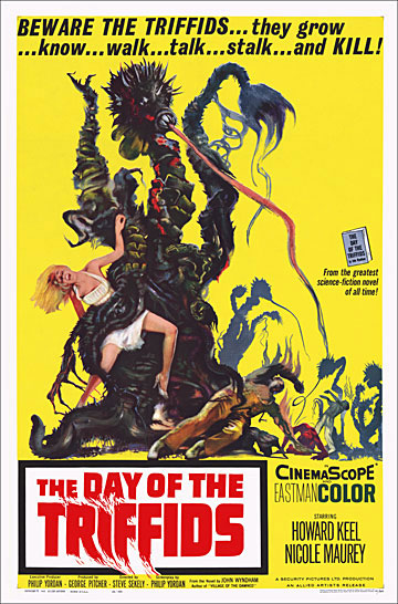 Day of the Triffids 1962 One Sheet Poster Reproduction
