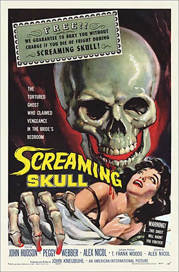Screaming Skull 1958 One Sheet Poster Reproduction
