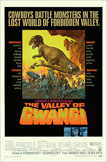 Valley of Gwangi, The 1969 One Sheet Poster Reproduction