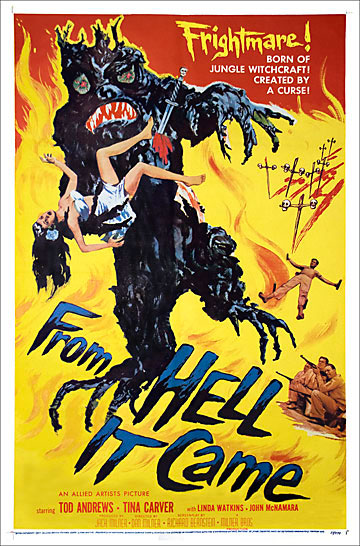 From Hell It Came 1957 One Sheet Poster Reproduction