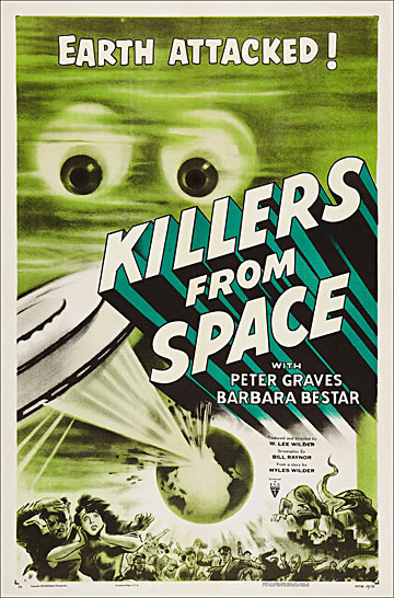 Killers From Space 1954 One Sheet Poster Reproduction
