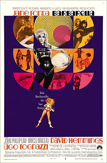 Barbarella 1968 One Sheet Poster Reproduction Jane Fonda