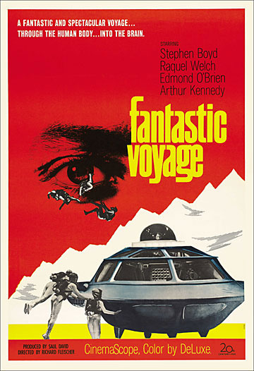 Fantastic Voyage 1966 Advance One Sheet Poster Reproduction