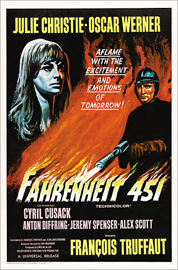Fahrenheit 451 1966 One Sheet Poster Reproduction