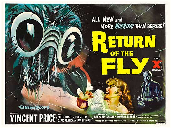 Return of the Fly 1959 British Quad Poster Reproduction