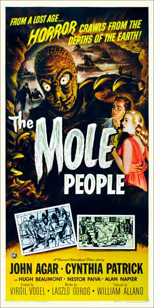 Mole People, The 1956 3 Sheet Poster Reproduction at 1/2 Size