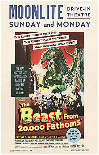 Beast from 20,000 Fathoms 1953 Window Card Poster Reproduction