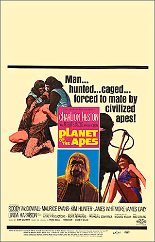 Planet of the Apes 1968 Window Card Poster Reproduction