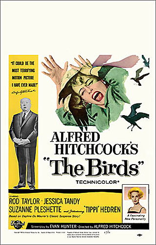 Birds, The 1963 Window Card Poster Reproduction Alfred Hitchcock