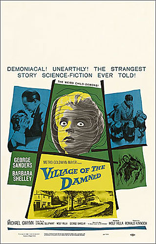 Village of the Damned 1960 Window Card Poster Reproduction
