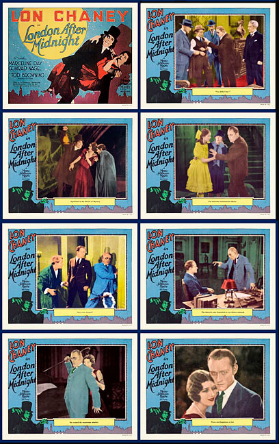 London After Midnight 1927 Lobby Card Set (11 X 14) Lon Chaney