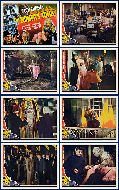 Mummy's Tomb, The 1942 Lobby Card Set (11 X 14) Lon Chaney