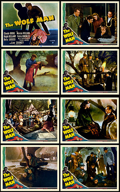 Wolf Man, The 1940 Lobby Card Set (11 X 14) Lon Chaney